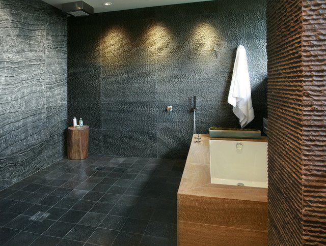 modernes badezimmer einrichten wand granit - Granit Ruckwand Dusche