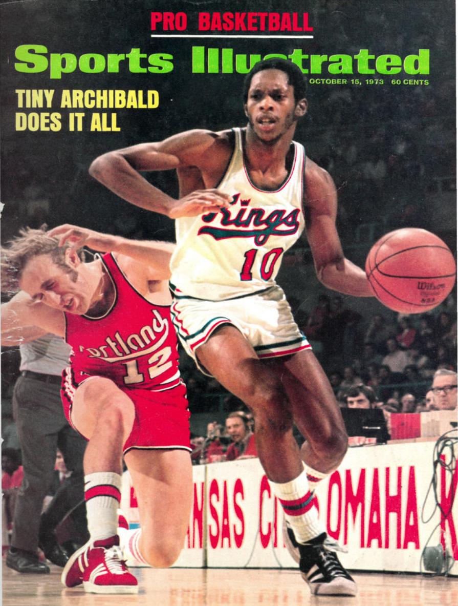 #NBA #ABA Sport Illustrated oct 15 1973 Tiny Archibald