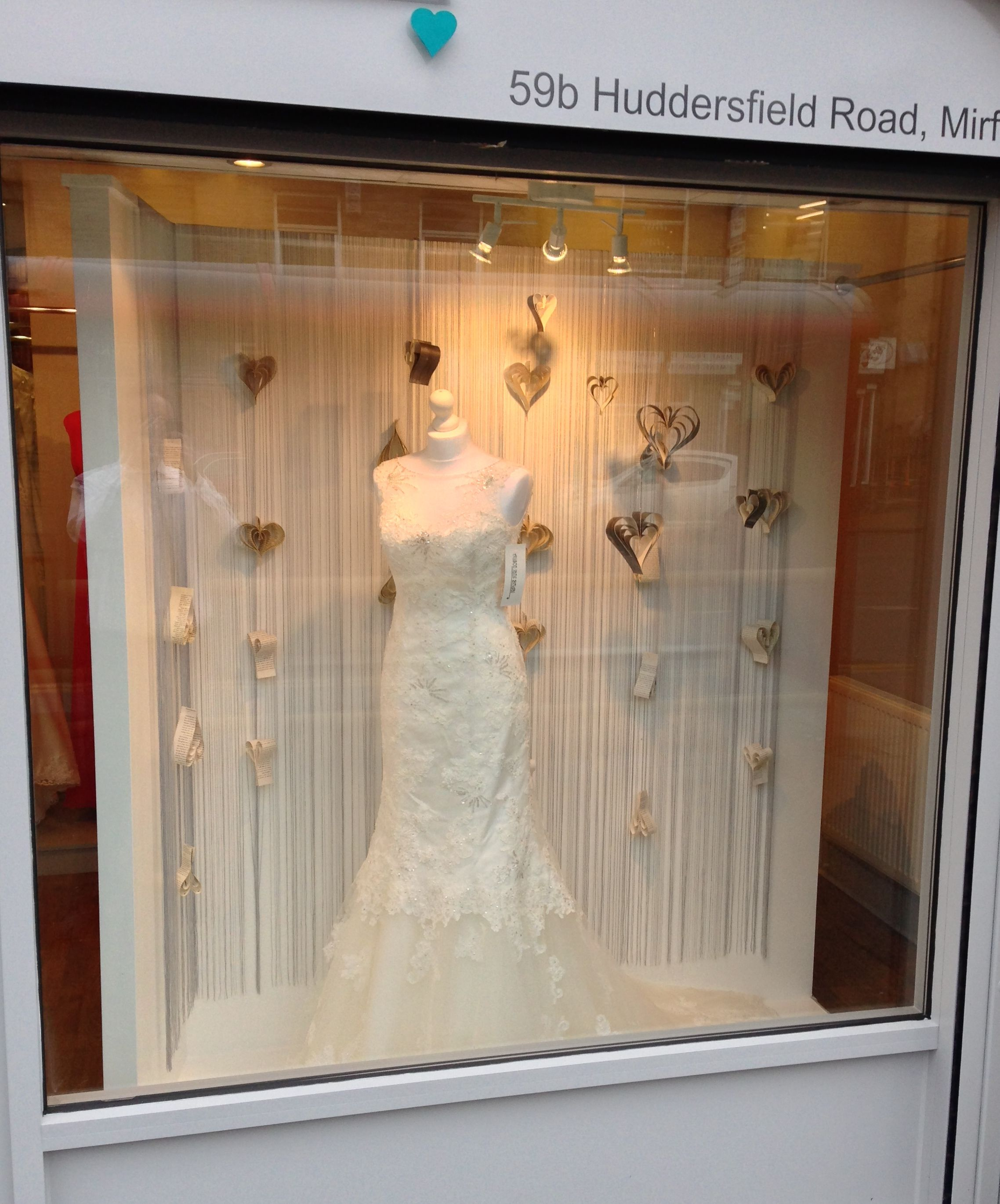 wedding decor shops wedding dress shop window alison bridal mirfield 9008