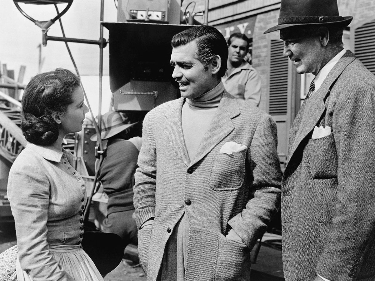 Vivian Leigh, Clark Gable and director Victor Fleming on