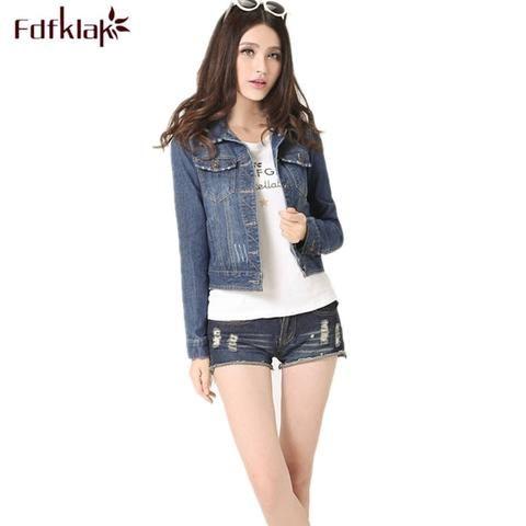 fd3af35b1a9 Plus Size Spring Autumn Long Sleeve Fashion Denim Jacket Women Jeans Jacket  Female Oversized Denim Coat Clothing 3XL 4XL E0481