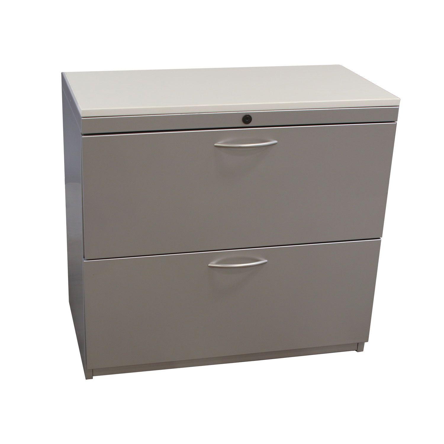 Steelcase Used 2 Drawer 30 Inch Lateral File With Laminate Top