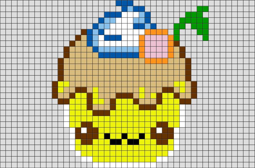 Cupcake Pixel Art Brik Pixel Art Designs Pixel Art Art