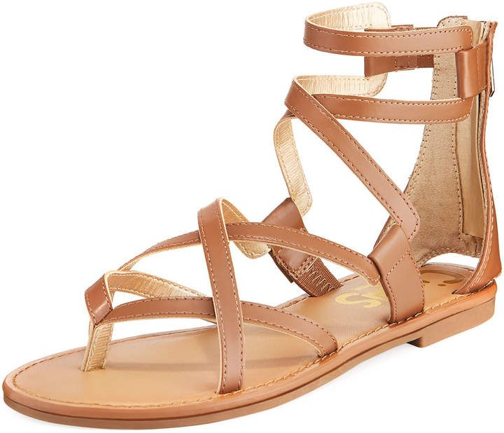 76ea1d778f3  AMAZING CIRCUS BY SAM EDELMAN Bevin Flat Strappy Sandals!  Faux-leather  sandals. 0.5