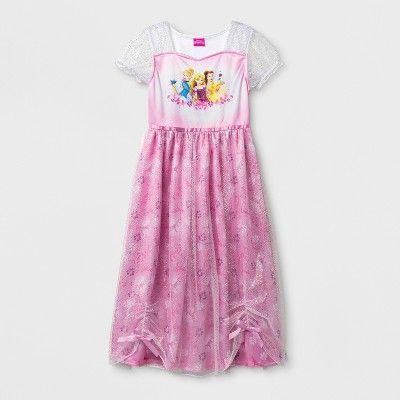 acf399edf26 Girls  Disney Princess Fantasy Nightgown - White 4   Target
