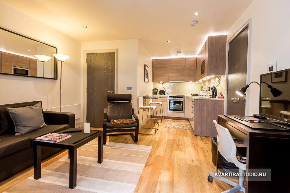 Дизайн квартиры 26 кв м. студии
