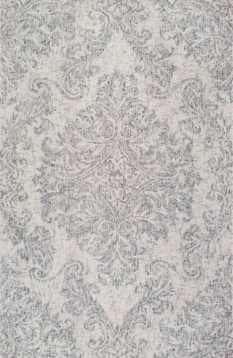 Need A Room Or Oversized Sized Area Rug This Beautiful Silver Tuscany Tu 88 Medallion Is Hand Crafted Of Wool And Viscose Using Combination Looped