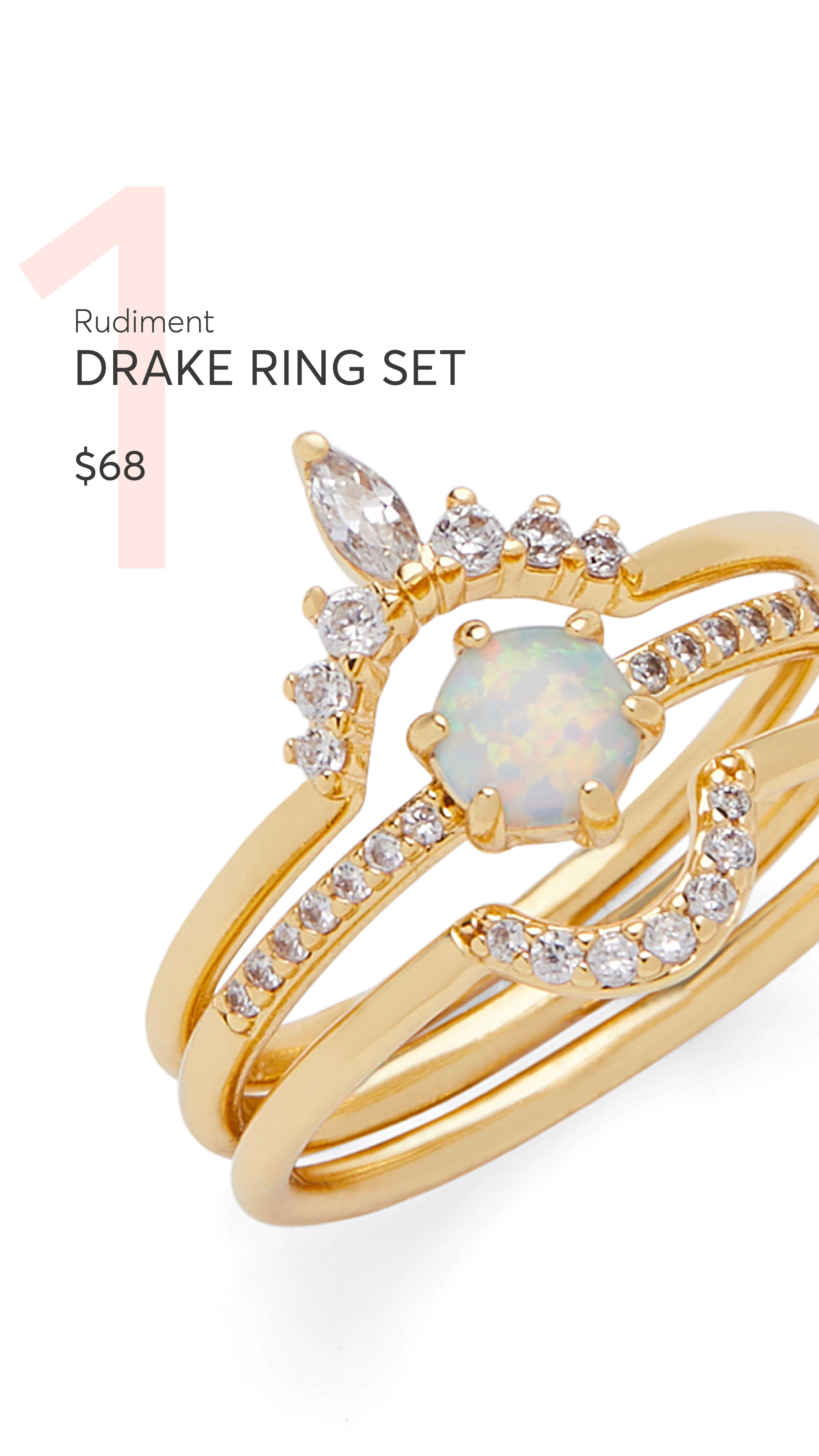 667fc9610aaf2 Rocksbox | Rudiment | Drake Ring Set | Rocksbox | Jewelry, Rings ...