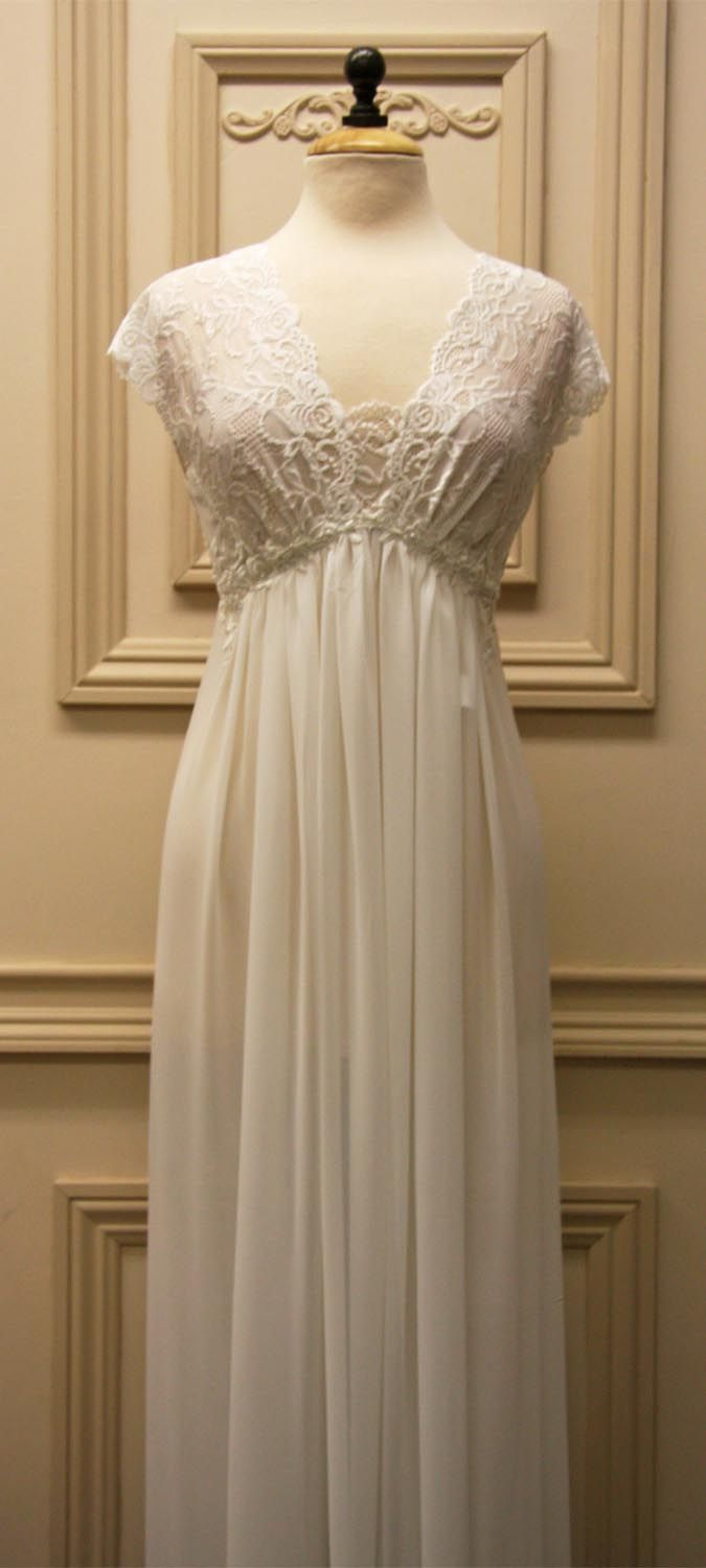 34b16a12af I tried this bridal nightgown by Jonquil