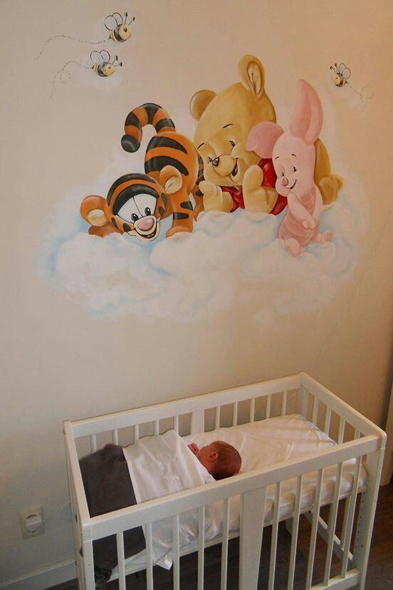 Pooh Kinder zimmer, Disney kinderzimmer, Wandbilder