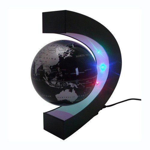 Yosoo c shape decoration magnetic levitation floating globe world yosoo c shape decoration magnetic levitation floating globe world map led light christmas gift yosoo gumiabroncs Images