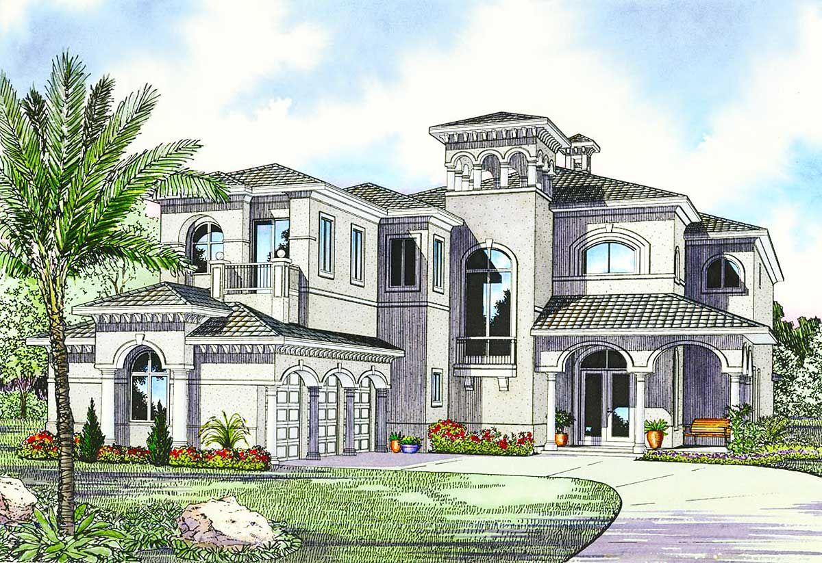 Plan 32058aa Luxury Mediterranean House Plan In 2020 Mediterranean Style House Plans Mediterranean House Plans Mediterranean House Plan
