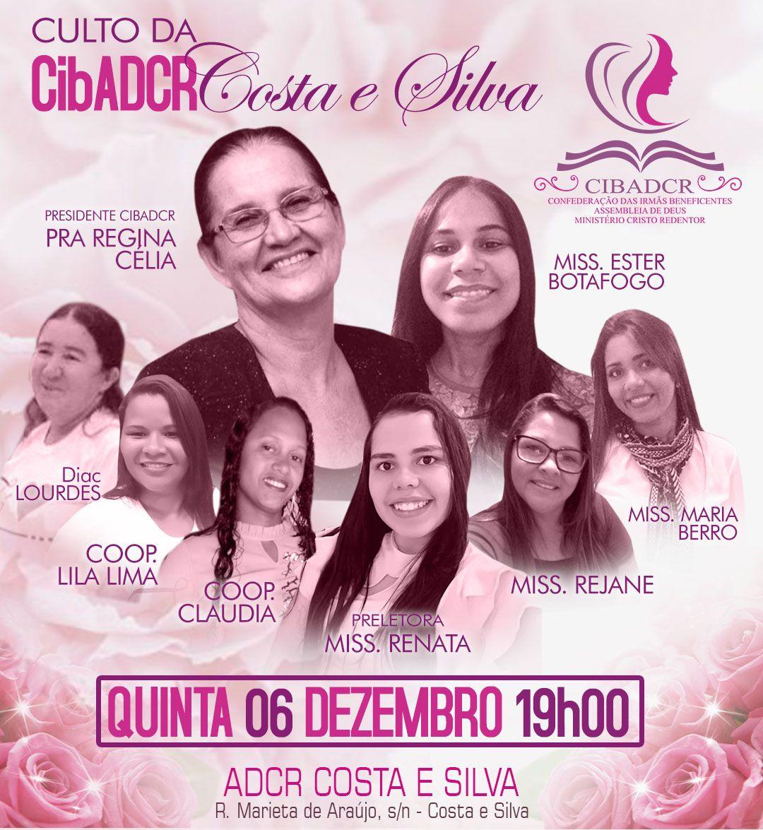 Cartaz Igreja Adcr Costa E Silva Ministerio De Mulheres Cartaz