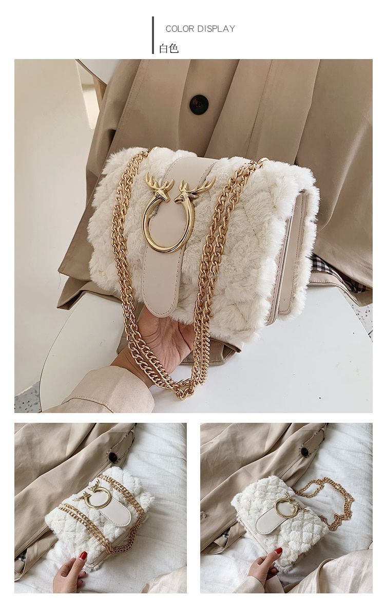 DEER Hardware w/ Soft Fur and Chain Bag – The Impulse Market,  #Bag #Chain #Deer #für #hardware #Impulse #Market #Soft #wasindeineHandtaschestecken