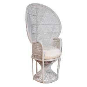 Hospitality Rattan Peacock Chair Buri - Whitewash - Accent Chairs at Hayneedle