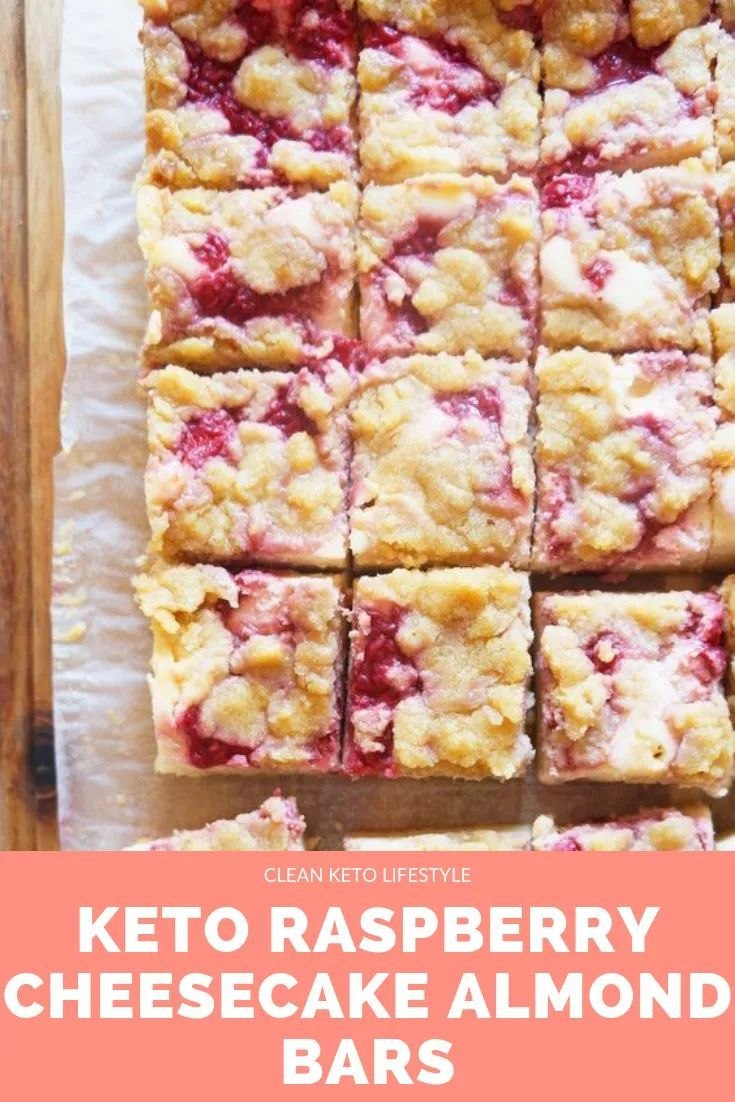 Keto Raspberry Cheesecake Bars | Clean Keto Lifest