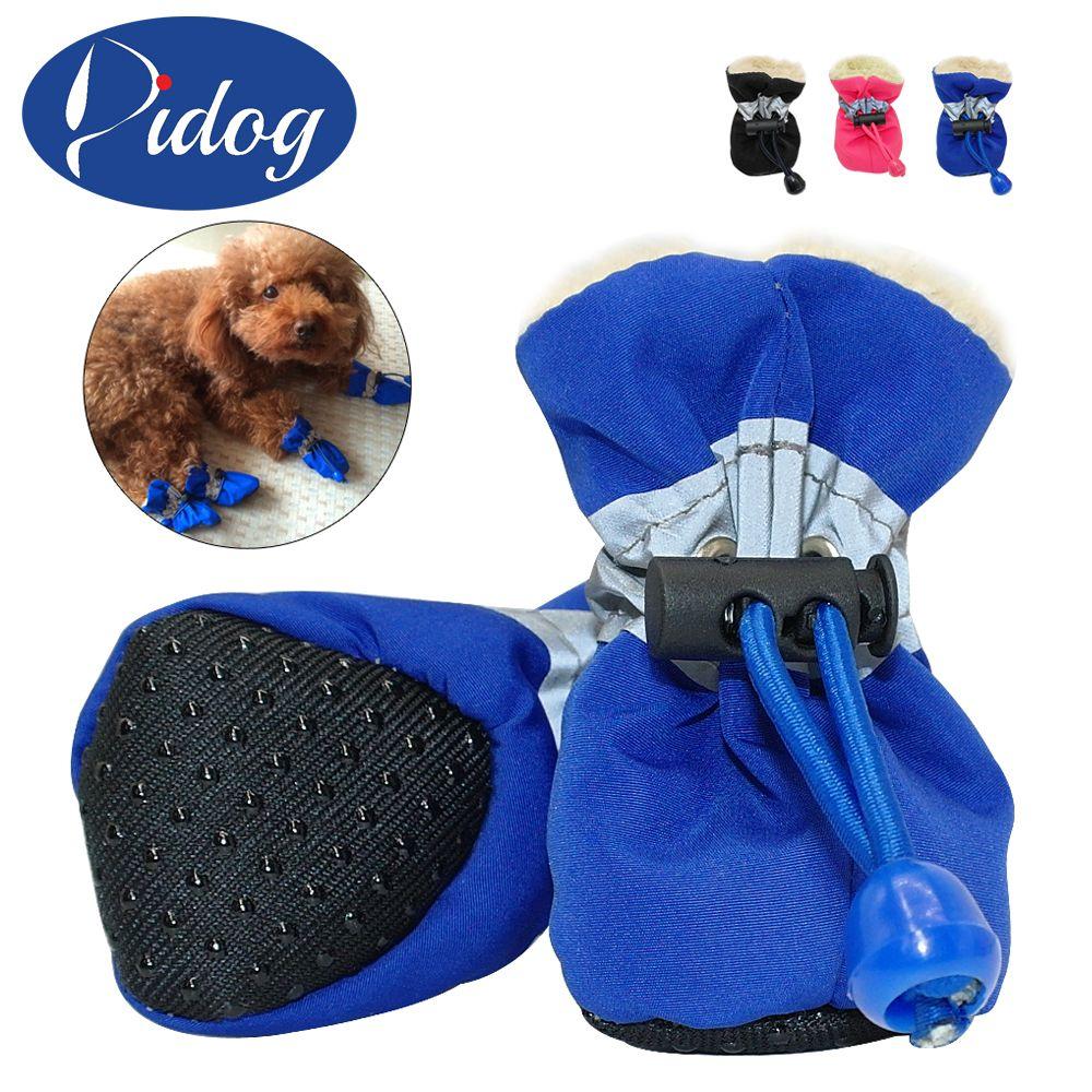 4 Stucke Wasserdicht Hund Schuhe Reflektierende Anti Rutsch Regen
