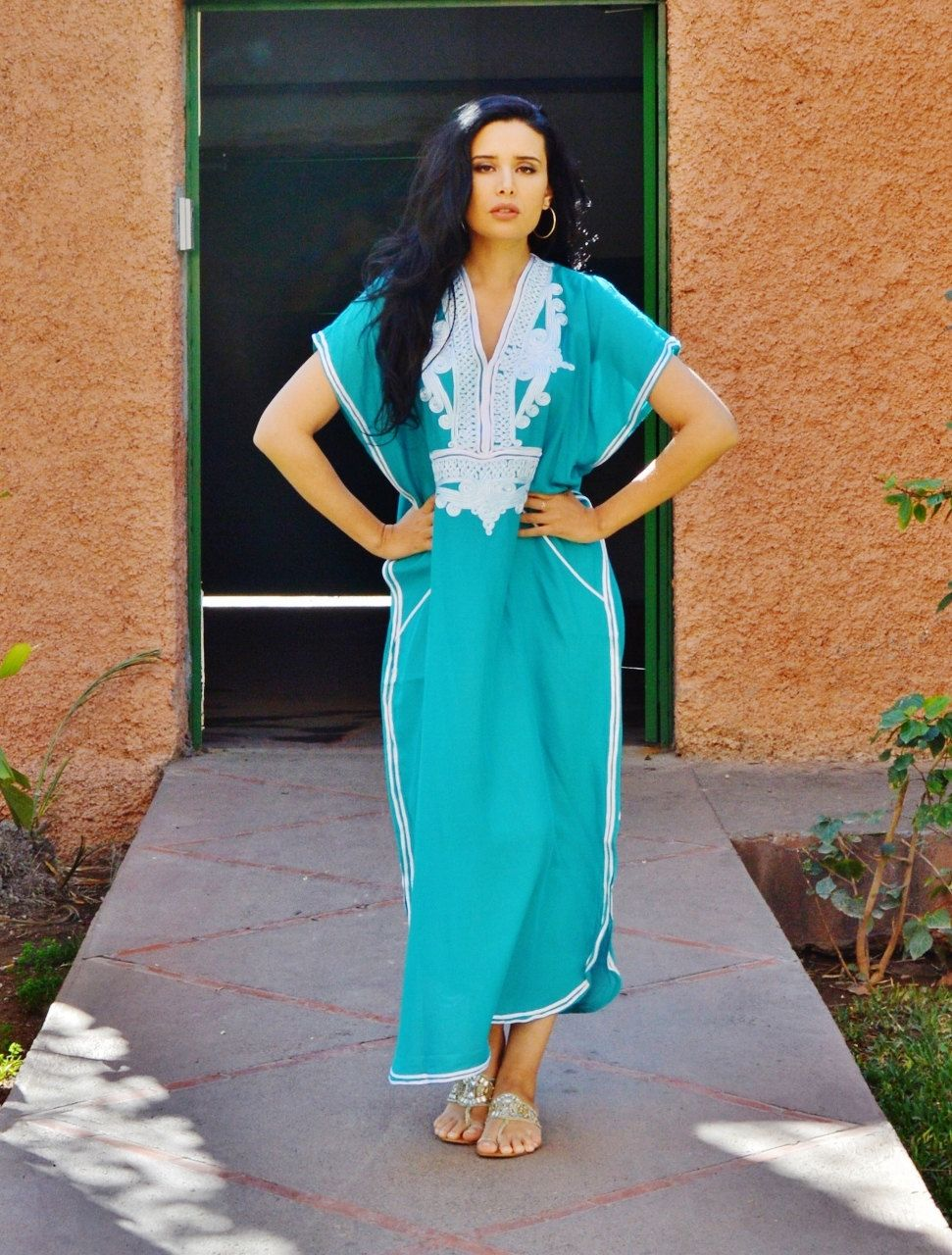 6cec3aee40 Emerald Gren Resortwear Caftan Kaftan-for Ramadan, beach cover up,  resortwear,abaya, lounge wear, maternity wear, birthday, wedding gifts by  MaisonMarrakech ...