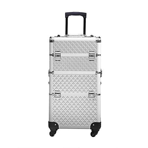 935f11a50 KINYNE Trolley Maletín para Maquillaje Extra Grande Nail Art Maquillaje  Beauty Case/Trolley / Suitcase