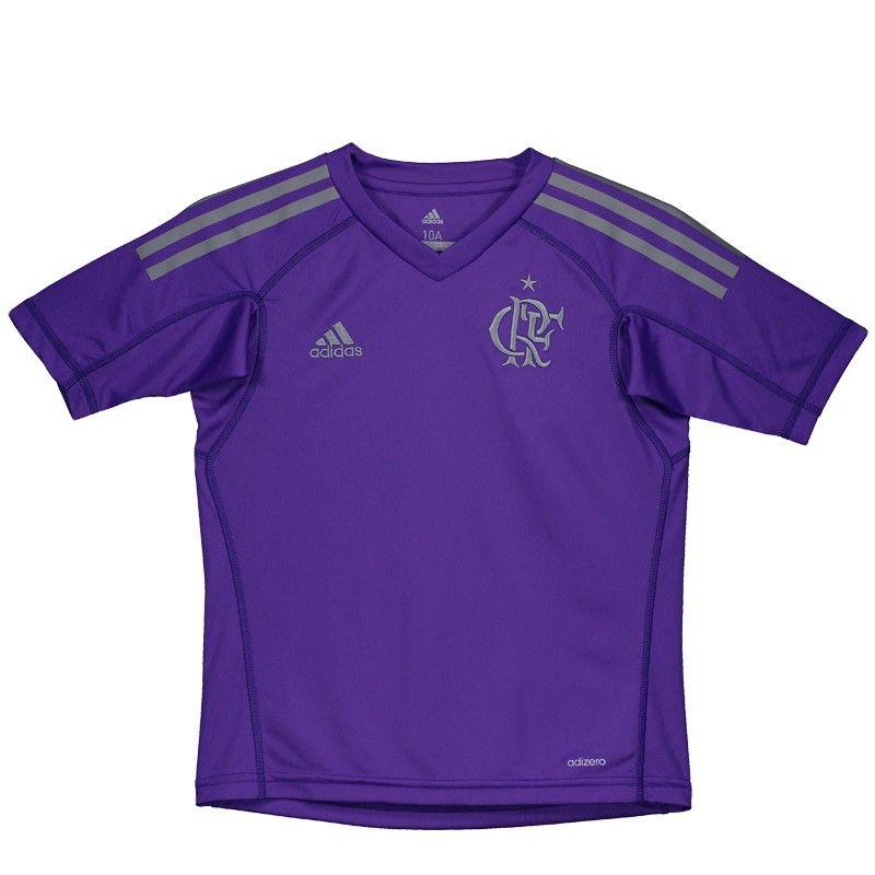 ae53fd0a6d Camisa Adidas Flamengo Goleiro I 2017 Juvenil Somente na FutFanatics você  compra agora Camisa Adidas Flamengo