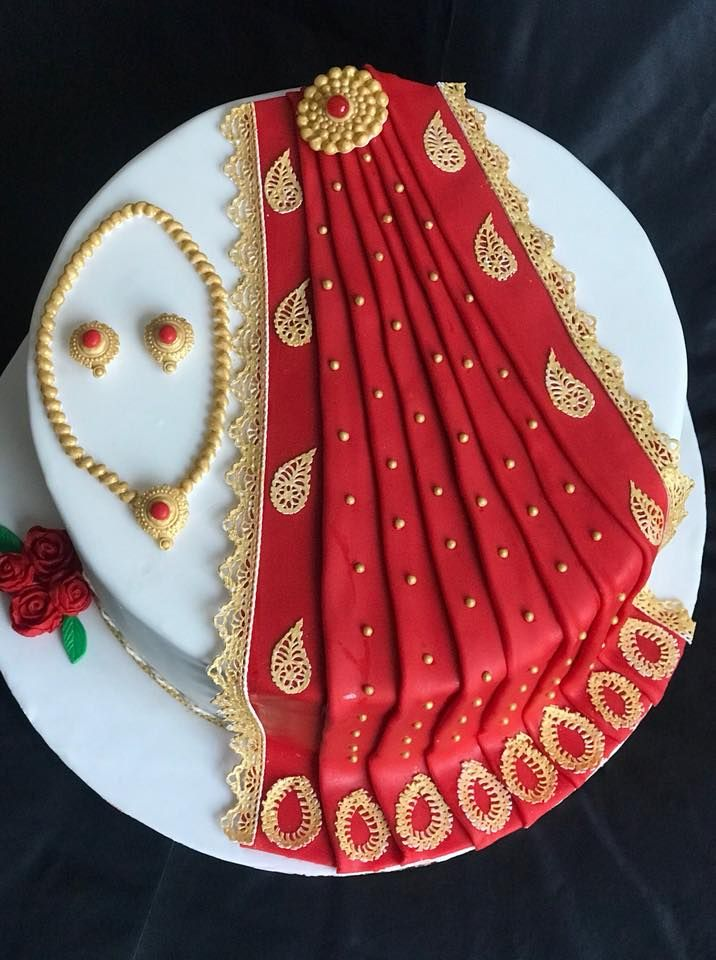 Awesome Sari Cake Indian Cake Mom Cake Birthday Cake For Mom Funny Birthday Cards Online Inifodamsfinfo