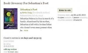 Goodreads Giveaway Announced! Enter now to win 1of4 signed copies of Sebastian's Poet!