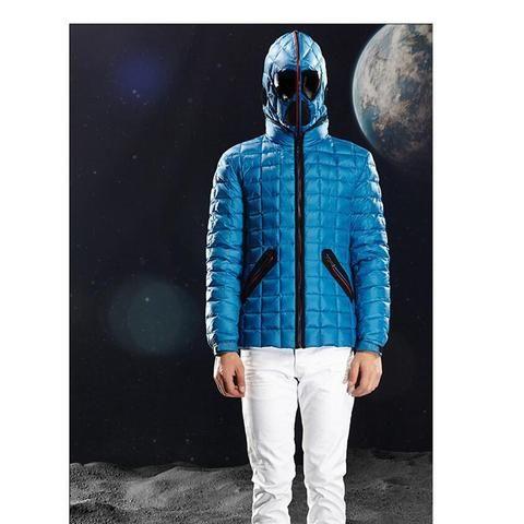 Men's VSD Winter Duck Down Coat Parkas Thick Warm Lightweight Alien Jacket With Glasses