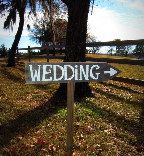 Wedding this way sign. | *Happily Ever After | Pinterest | Wedding ...