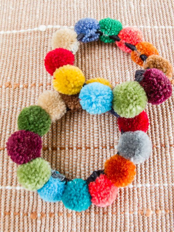 Hmong doughnut pompoms Hair band / (Free Shipping With Another Items) /Wholesale #hairbands