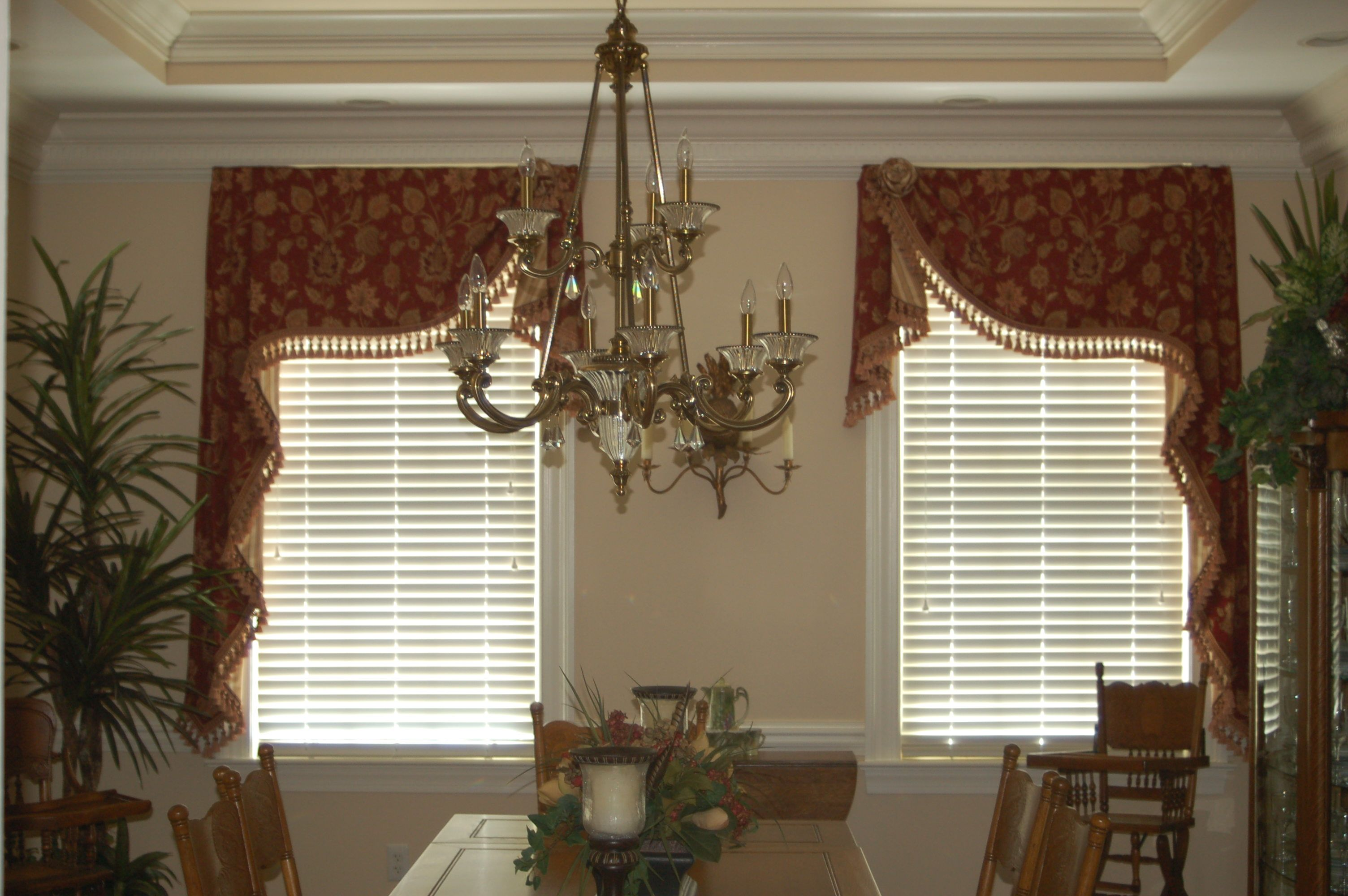 Mirrored Moreland Valances With Extended Jabots Custom Designed By