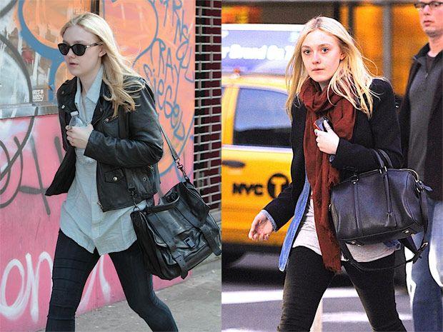 56f9d5fa4575 Dakota Fanning Style: Proenza Schouler vs. Louis Vuitton (via Purseblog.com)