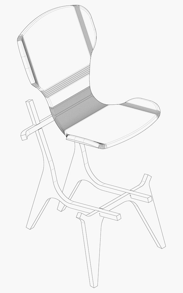 The Kerfchair Is Flat Pack Furniture It Is Manufactured In A Cnc Machine By Machining A Board Of Birch Wood A Cnc Furniture Flat Pack Furniture Wood Laminate
