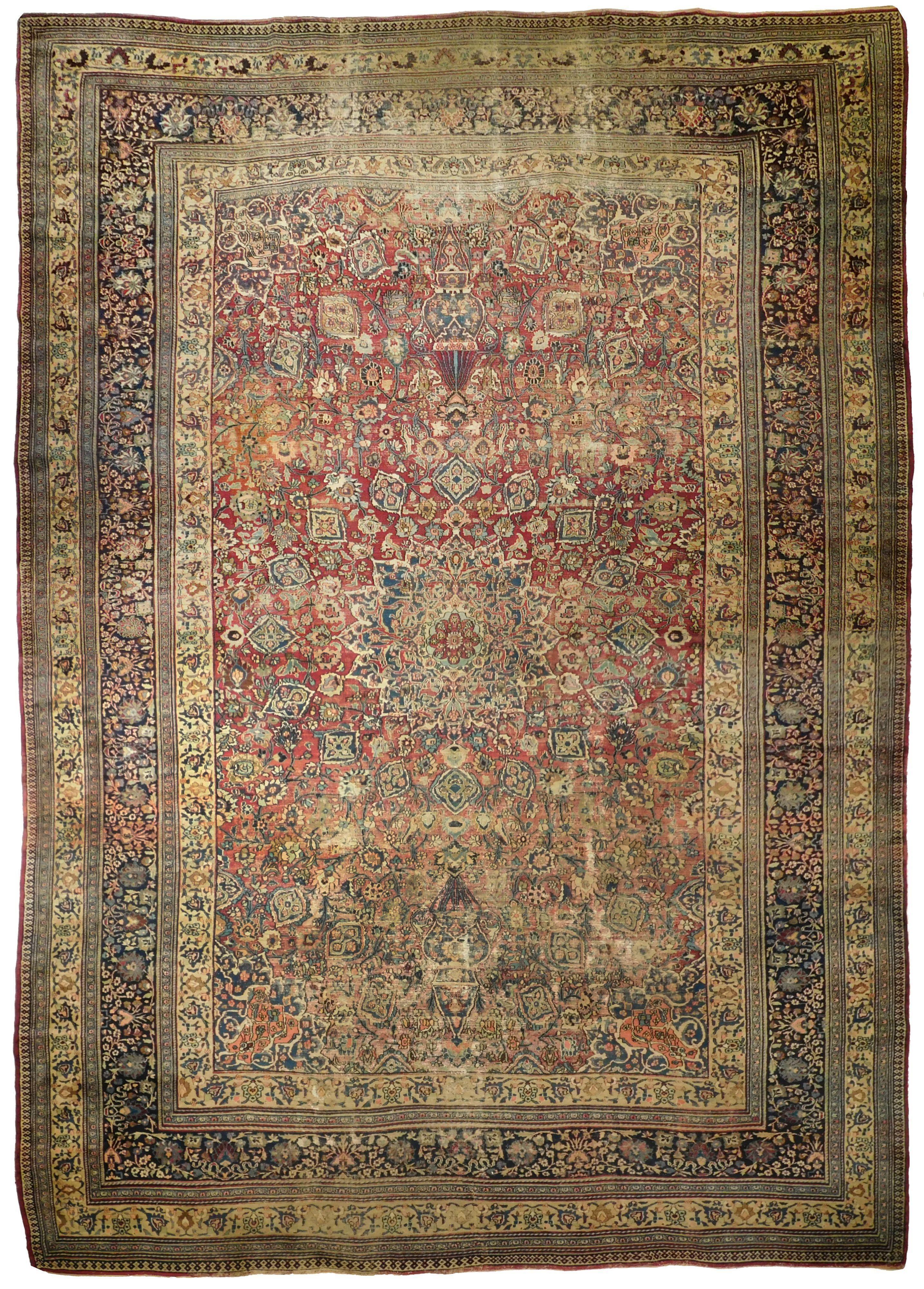 Distressed Antique Persian Mashad Rug 11 0 X 17 0 In 2020 Persian Rug Designs Persian Carpet Antique Persian Carpet