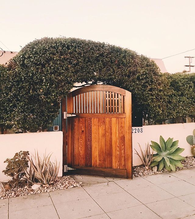 I mean how cute is our front gate? Even having a YARD has ...