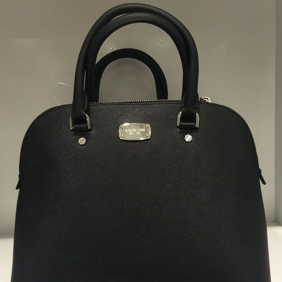 cd1e00f85f1a Michael Kors Cindy Large Dome Satchel Black Michael Kors Cindy Large Dome  Satchel Black Saffiano Leather Michael Kors Bags Satchels