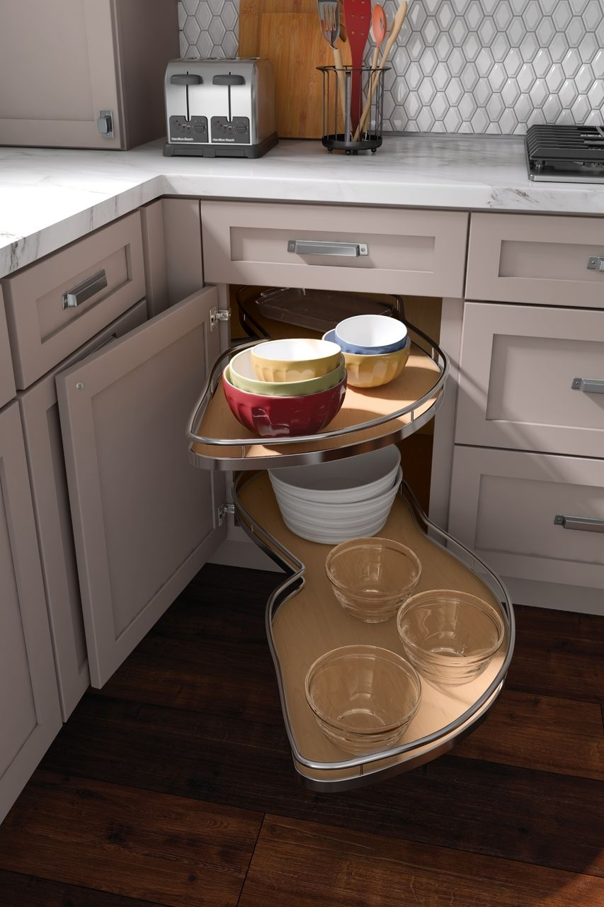 Base Blind Corner w/ Chrome Swing-out   Kitchen cabinetry ...