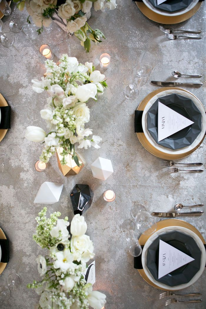 Edgy Modern Wedding Trending Tables Pinterest Tischdekoration