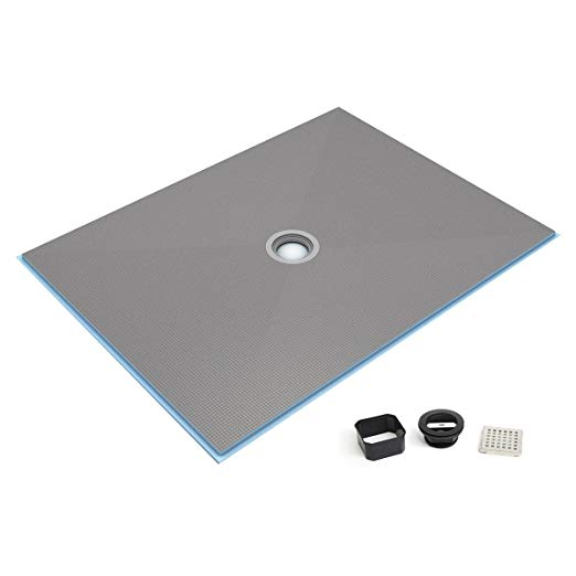 Wedi Fundo Ligno Curbless Shower Base With Center Drain 48 X 48