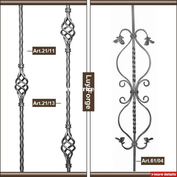 Wrought Iron Railing Part / China Stair Parts For Sale