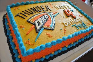 OKC Thunder birthday cake. | ThUnDeR Up in 2019 | Thunder cake ...
