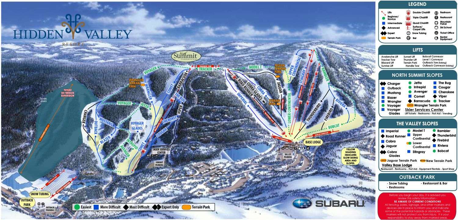 Hidden Valley Resort Features 31 Slopes And Trails On Two Connected Ski Areas Designed For Appeal To Both Beginner And Expert Travel Fun Hidden Valley Skiing