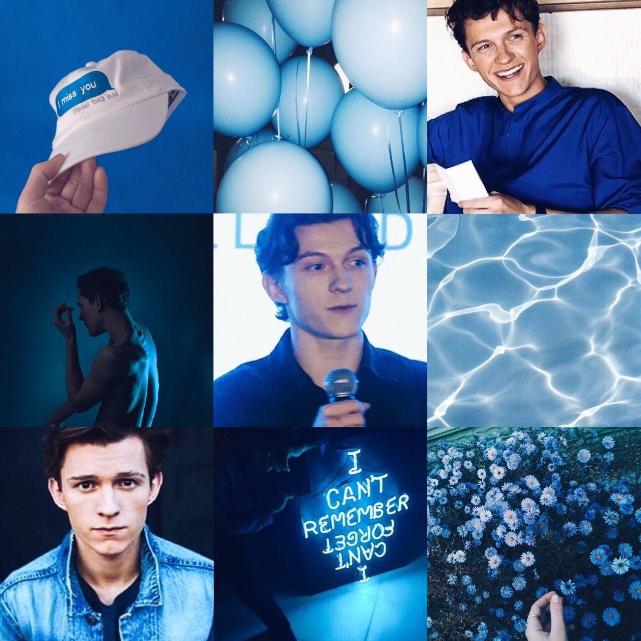 Tom Holland Moodboard Blue Aesthetic 17 Tom