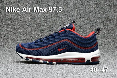 2017 2018 Daily Nike Air Max 97.5 Dark Blue Red Running Shoe For Sale