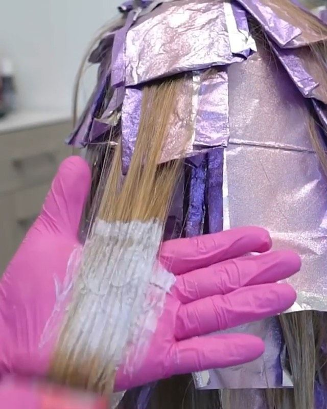 It is a picture of Crafty Professional Hair Coloring Techniques