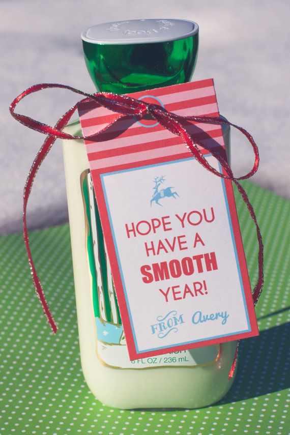 Christmas Lotion Bottle Gift Tag Thank You Gift Tag Christmas