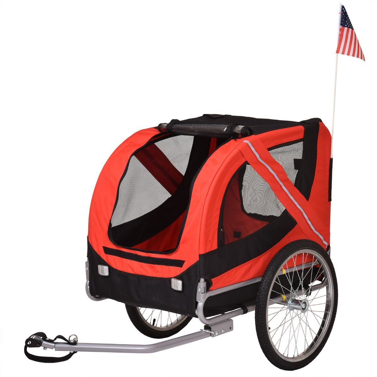 LAZYMOON 2 in 1 Pet Bicycle Trailer Stroller Jogger Dog