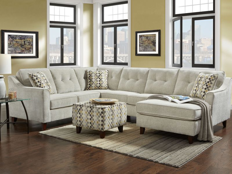 Sydney Cream 3 Piece Sectional By Washington In 2020 Sectional Sofa Furniture Sectional Ottoman