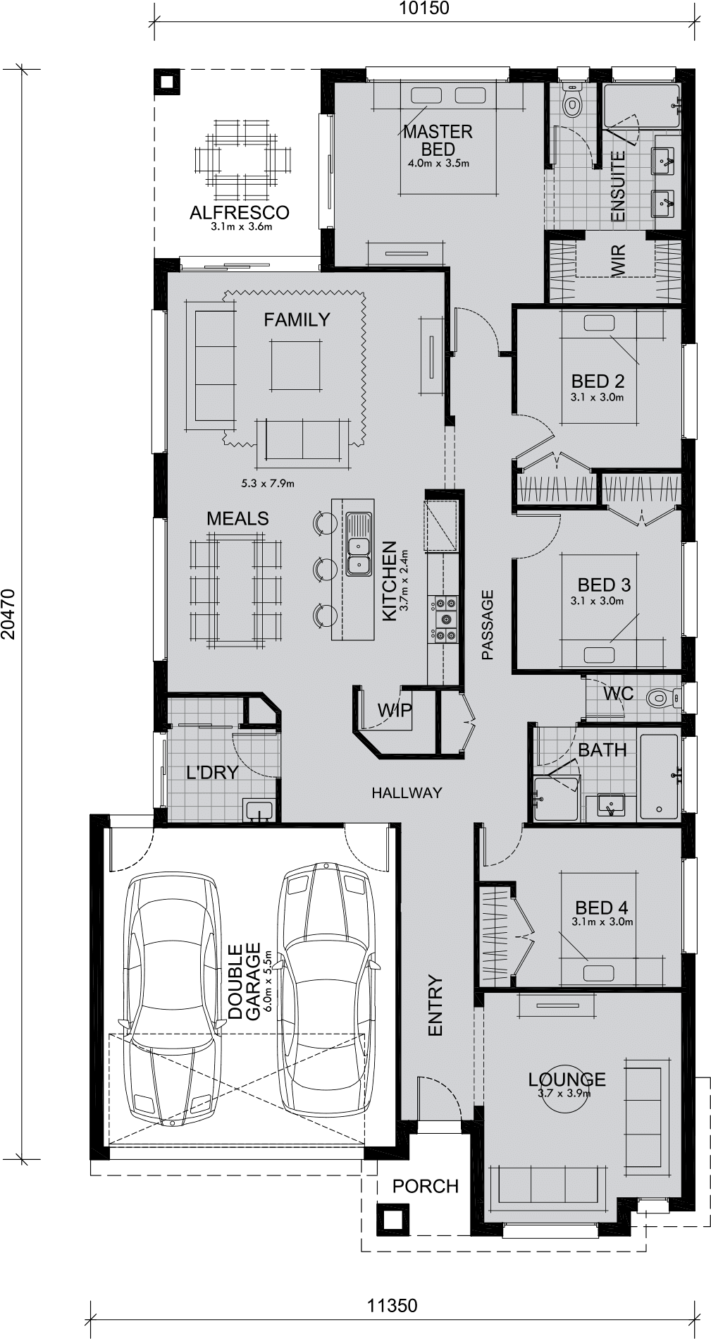 Johanna 240 Bedroom Mimosa Homes - Melbourne\'s best New home designs ...