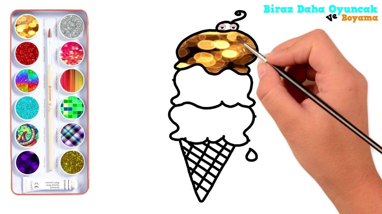 Simli Dondurma Boyama çocuklar Için Boyama Videoları Ice Cream