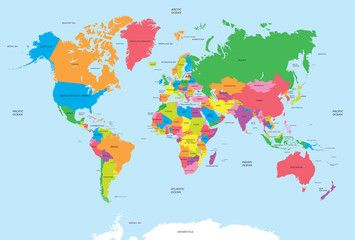 Political map of the world vector new house ideas pinterest poster of world map colorful countries atlas vector file world map poster gumiabroncs Images
